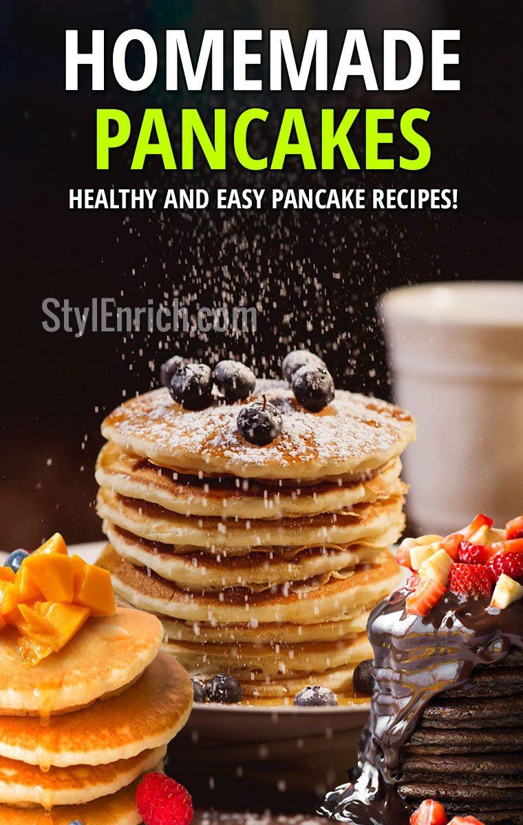 Healthy Homemade Pancakes  Homemade Pancakes Healthy and Easy Pancake Recipes