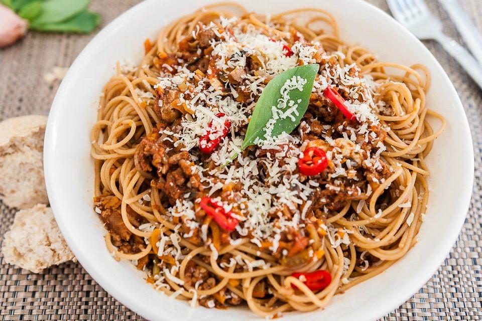 Healthy Homemade Pasta  Healthy Chicken Spaghetti Bolognese