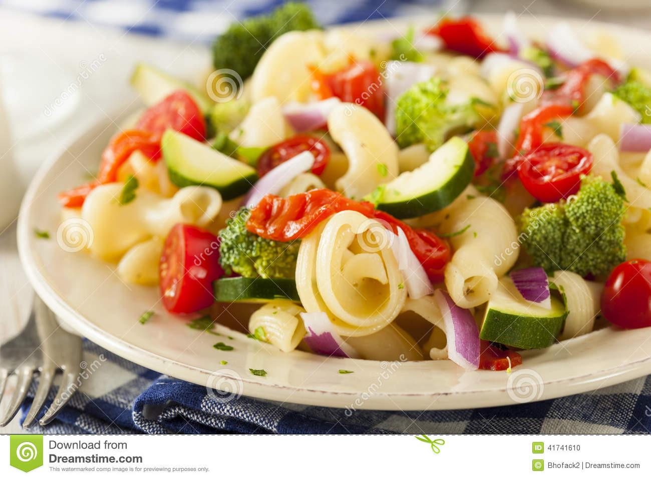 Healthy Homemade Pasta  Healthy Homemade Pasta Salad Stock Image