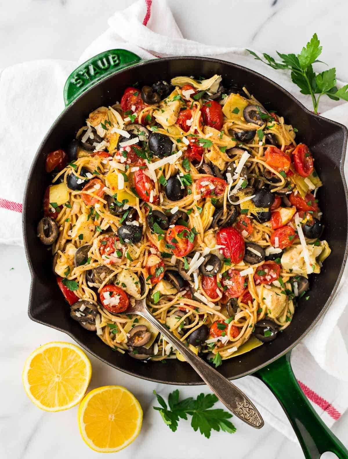 Healthy Homemade Pasta  Mediterranean Pasta