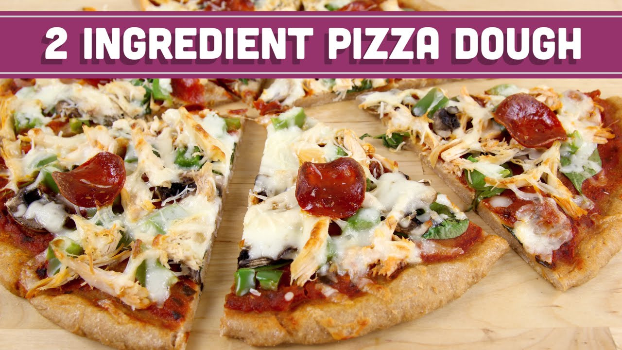 Healthy Homemade Pizza Dough  2 Ingre nt Pizza Dough Healthy Pizza and Breadsticks