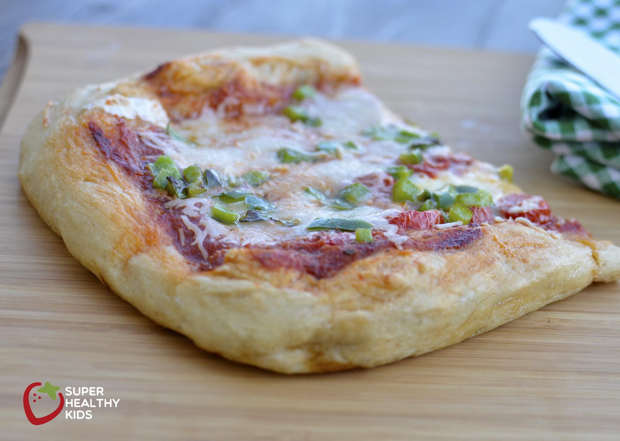 Healthy Homemade Pizza Dough  No Knead Whole Wheat Pizza Recipe