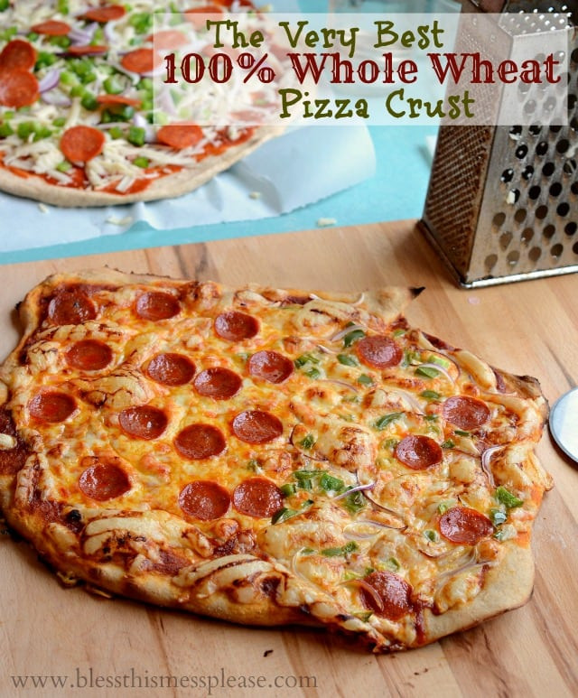 Healthy Homemade Pizza Dough  Whole Wheat Pizza Crust Bless This Mess