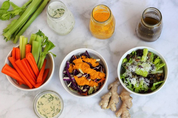 Healthy Homemade Salads  Healthy homemade salad dressings that are dairy free and