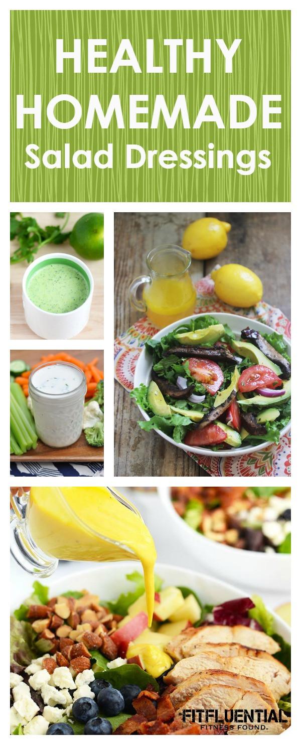 Healthy Homemade Salads  DIY Homemade Healthier Salad Dressings FitFluential