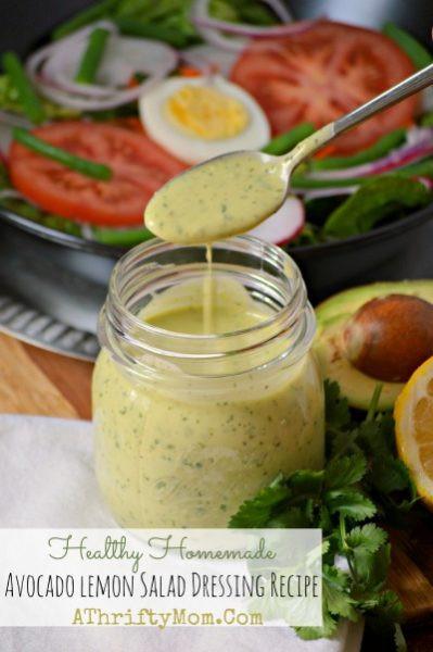 Healthy Homemade Salads  Healthy Homemade Avocado Lemon Salad Dressing Recipe