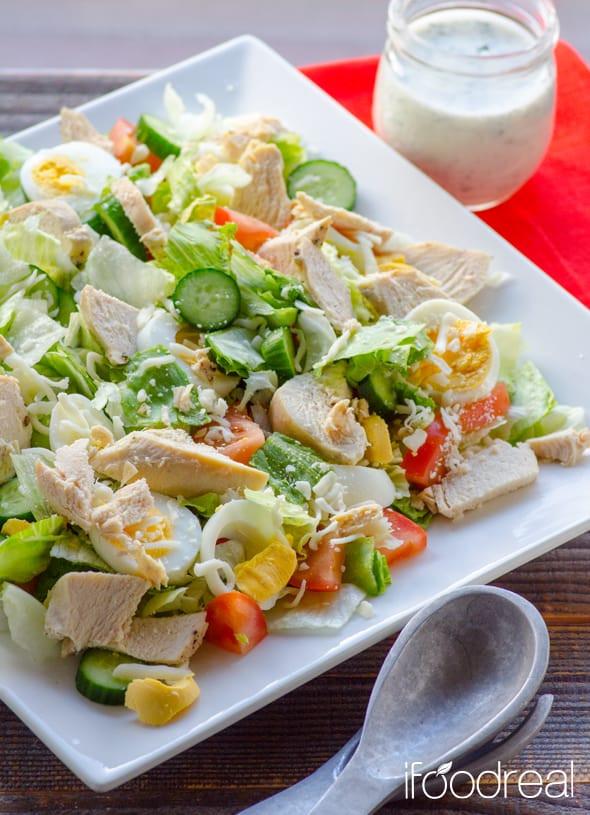 Healthy Homemade Salads  Healthy Chef Salad Recipe iFOODreal Healthy Family Recipes