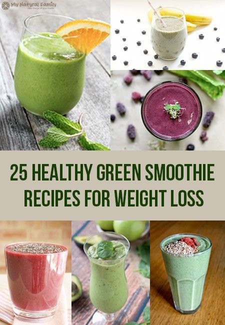 Healthy Homemade Smoothies For Weight Loss  Best 25 Healthy Green Smoothie Recipes for Weight Loss
