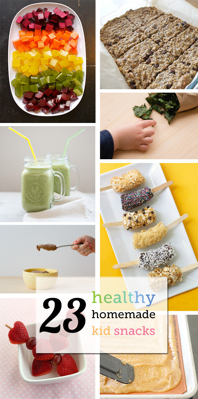Healthy Homemade Snacks For Kids  Healthy Homemade Snacks for Kids – From smoothies to kale