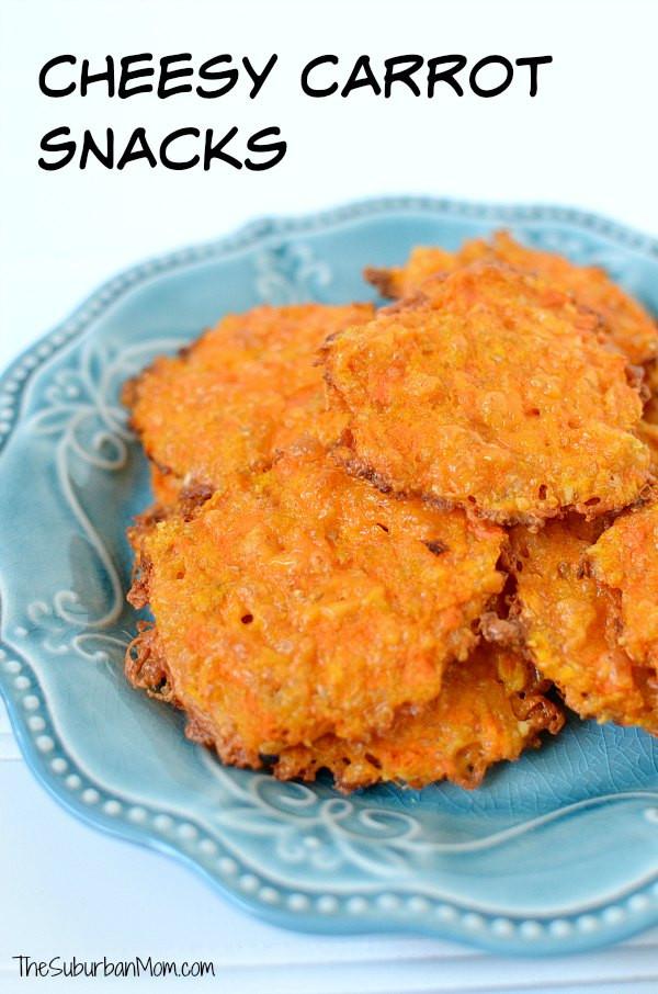 Healthy Homemade Snacks For Kids  Cheesy Carrot Snacks