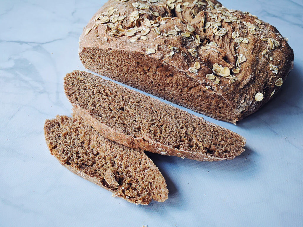 Healthy Homemade Whole Wheat Bread Recipe  Easy Whole Wheat Bread 4 Ingre nts Oil and Sugar Free