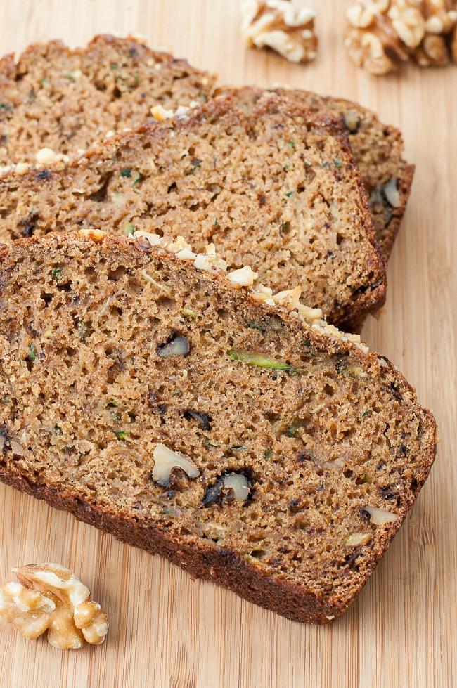 Healthy Homemade Whole Wheat Bread Recipe  Whole Grain Fluffy Flax Zucchini Bread