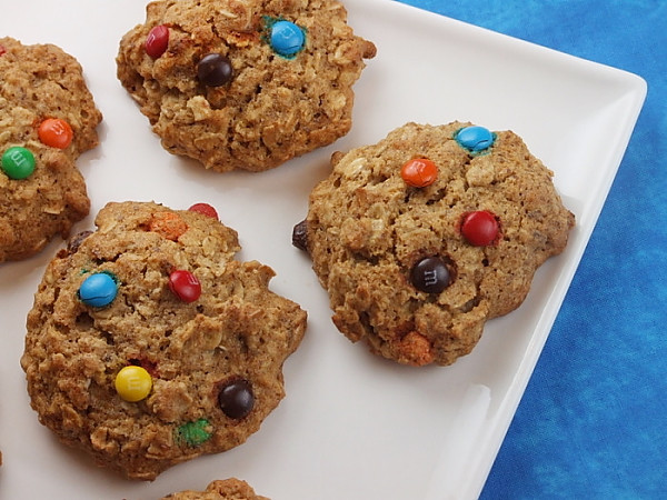 Healthy Honey Oatmeal Cookies  Healthy Oatmeal M&M Cookie Recipe