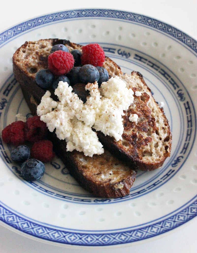 Healthy Hot Breakfast  French Toast With Ricotta