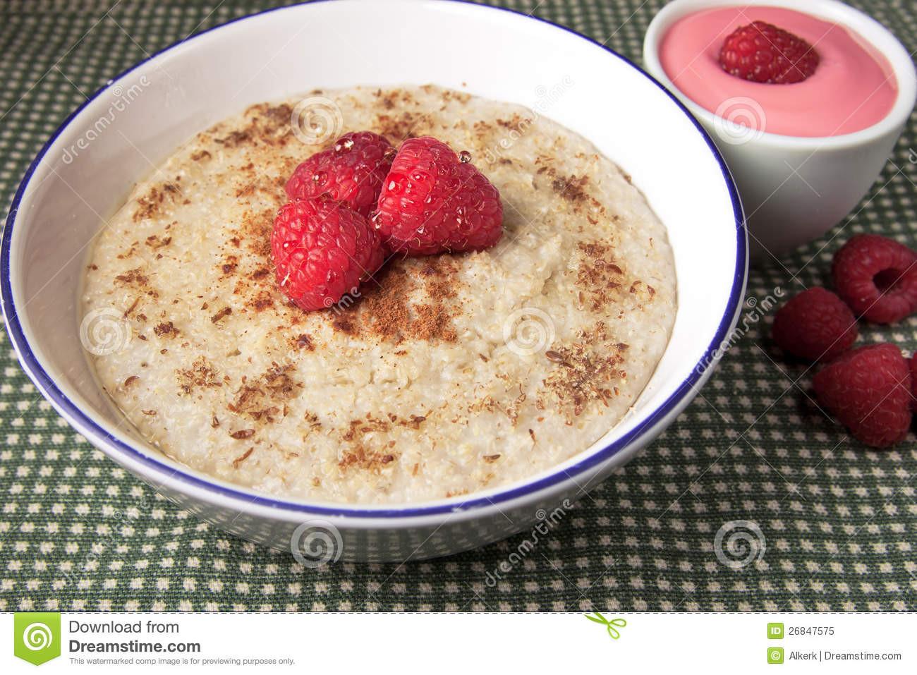 Healthy Hot Breakfast  Healthy Breakfast Hot Oat Bran Cereal Stock Image