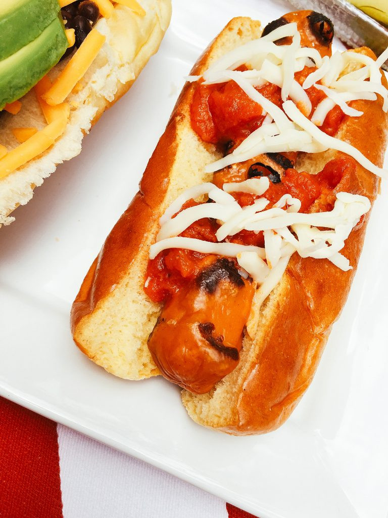 Healthy Hot Dogs  Healthy veggie hot dog toppers Summer BBQ ideas