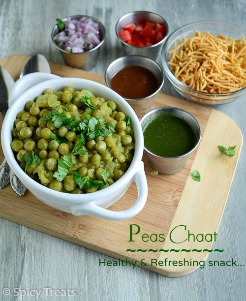 Healthy Hot Snacks  Spicy Treats Peas Chaat Peas Masala Chaat Recipe