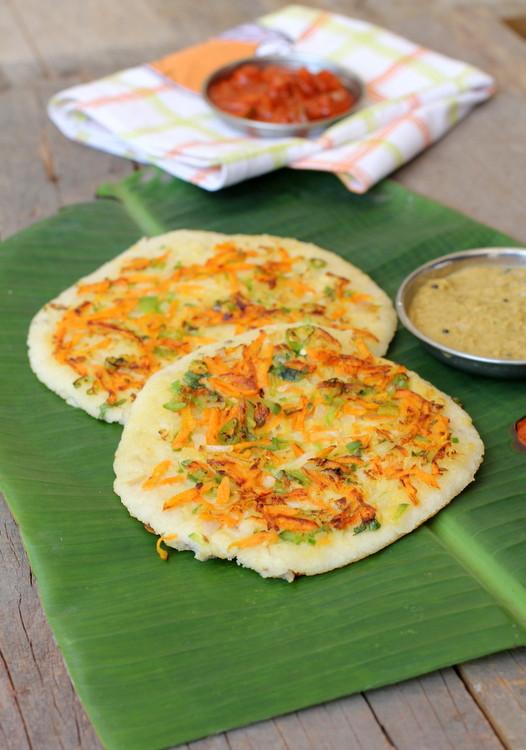Healthy Indian Breakfast  Oats Uthappam Healthy breakfast recipe with oats for kids