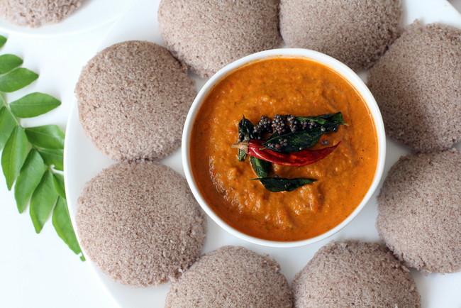 Healthy Indian Breakfast  Ragi Idli Healthy and nutritional ragi flour recipes for