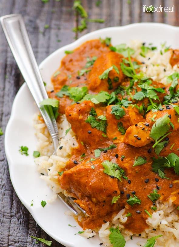 Healthy Indian Chicken Recipes  ჱHealthy Crockpot Butter Chicken us25