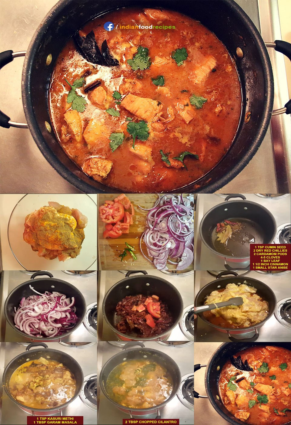 Healthy Indian Food Recipes  Healthy Indian Chicken Curry recipe step by step