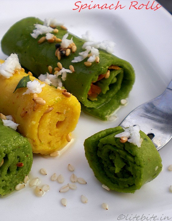 Healthy Indian Snacks  Khandvi Healthy steamed chickpea flour snack