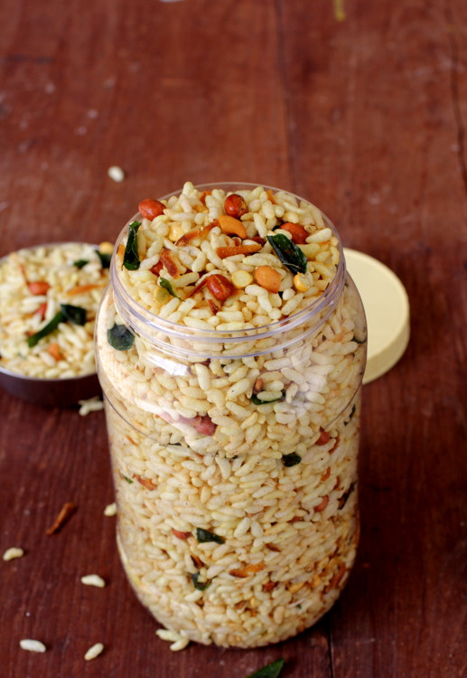 Healthy Indian Snacks  Murmura Chivda Spiced Puffed Rice Mixture Healthy