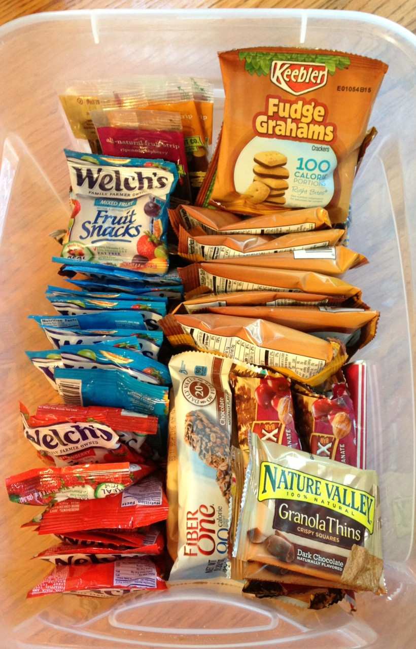 Healthy Individually Packaged Snacks  School Lunches for Teacher