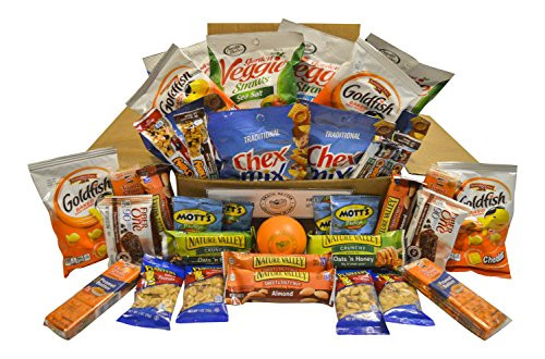Healthy Individually Packaged Snacks  Healthy Snack Box – 36 Individually Wrapped Snacks