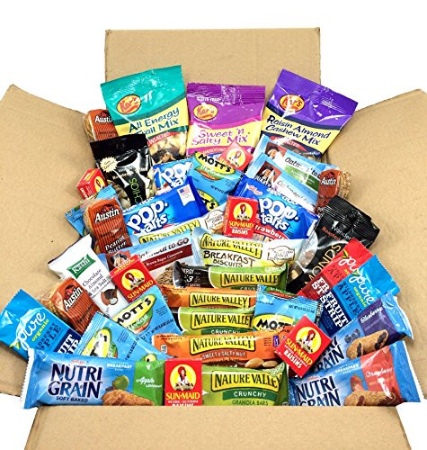 Healthy Individually Wrapped Snacks  Breakfast The Go Snacks In A Box Bundle Individually