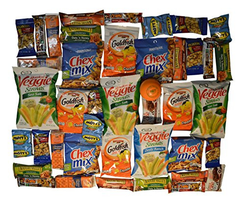 Healthy Individually Wrapped Snacks  Healthy Snack Box 40 Individually Wrapped Snacks Plus