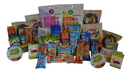 Healthy Individually Wrapped Snacks  Healthy Snack Box 32 Individually Wrapped Snacks Food