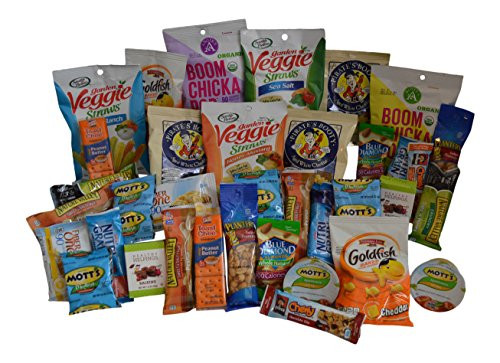 Healthy Individually Wrapped Snacks  Healthy Snack Box – 36 Individually Wrapped Snacks
