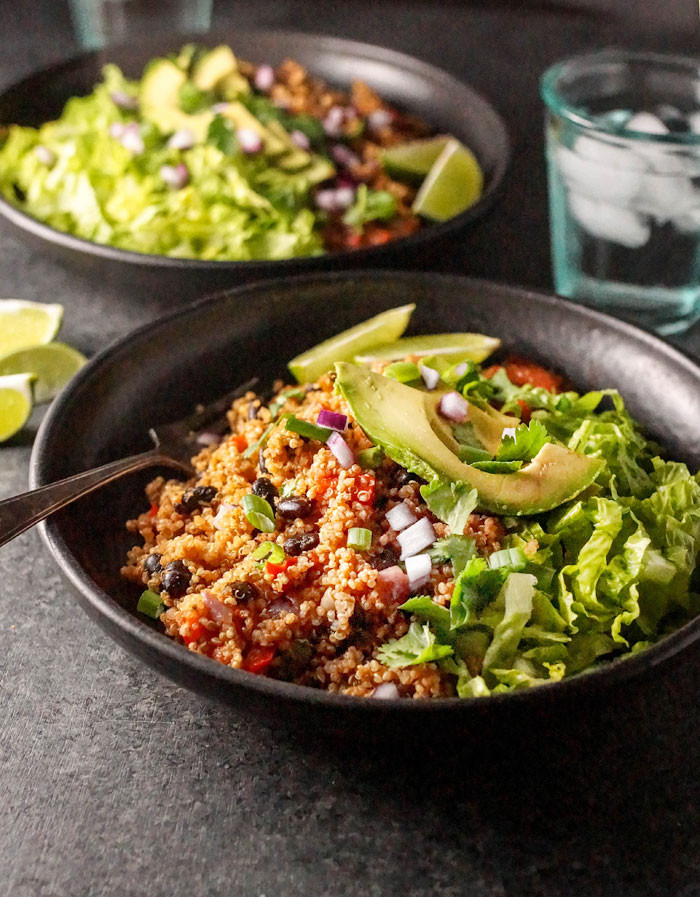 Healthy Instant Pot Recipes Vegetarian  Instant Pot Vegan Quinoa Burrito Bowls