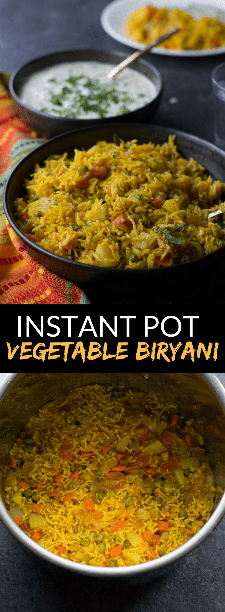 Healthy Instant Pot Recipes Vegetarian  Instant Pot Ve able biryani recipe How to make veg