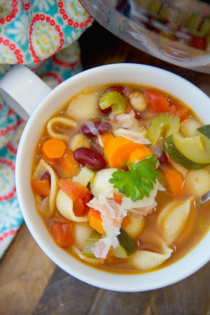 Healthy Instant Pot Soup Recipes  Easy Instant Pot Minestrone Soup · The Typical Mom