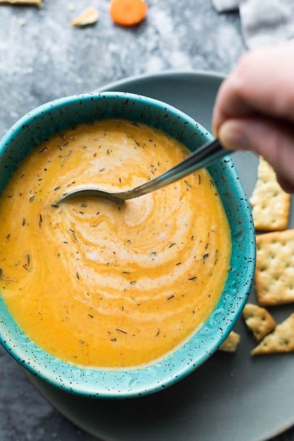 Healthy Instant Pot Soup Recipes  Vegan Carrot Ginger Soup Instant Pot Video
