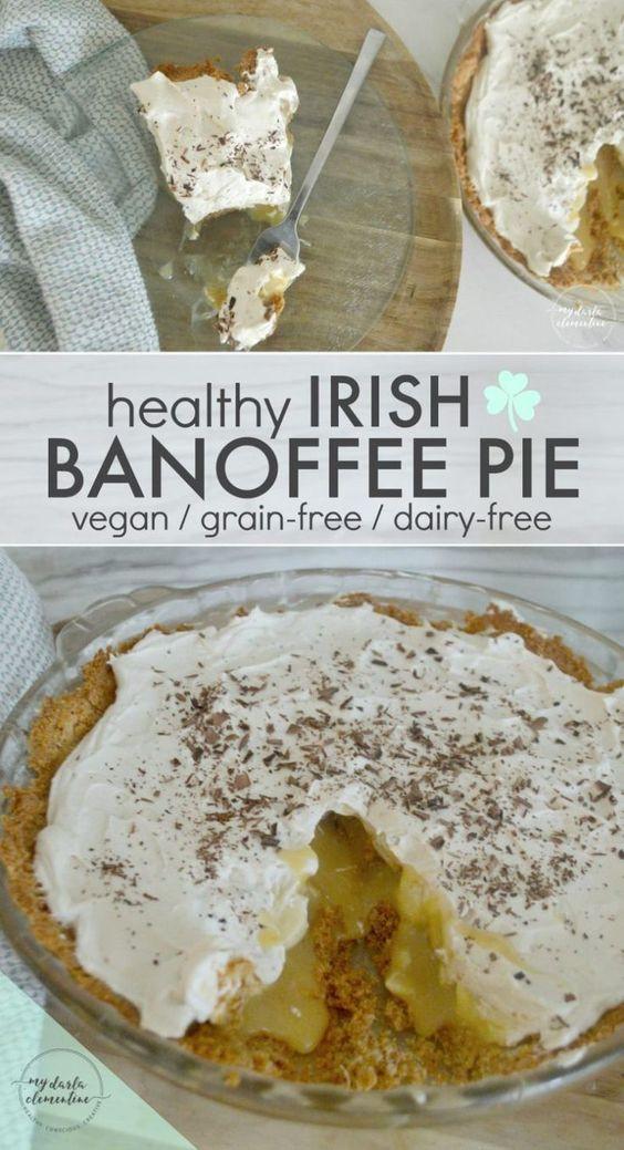Healthy Irish Recipes  Healthy Irish Banoffee Pie Vegan Grain free Dairy free