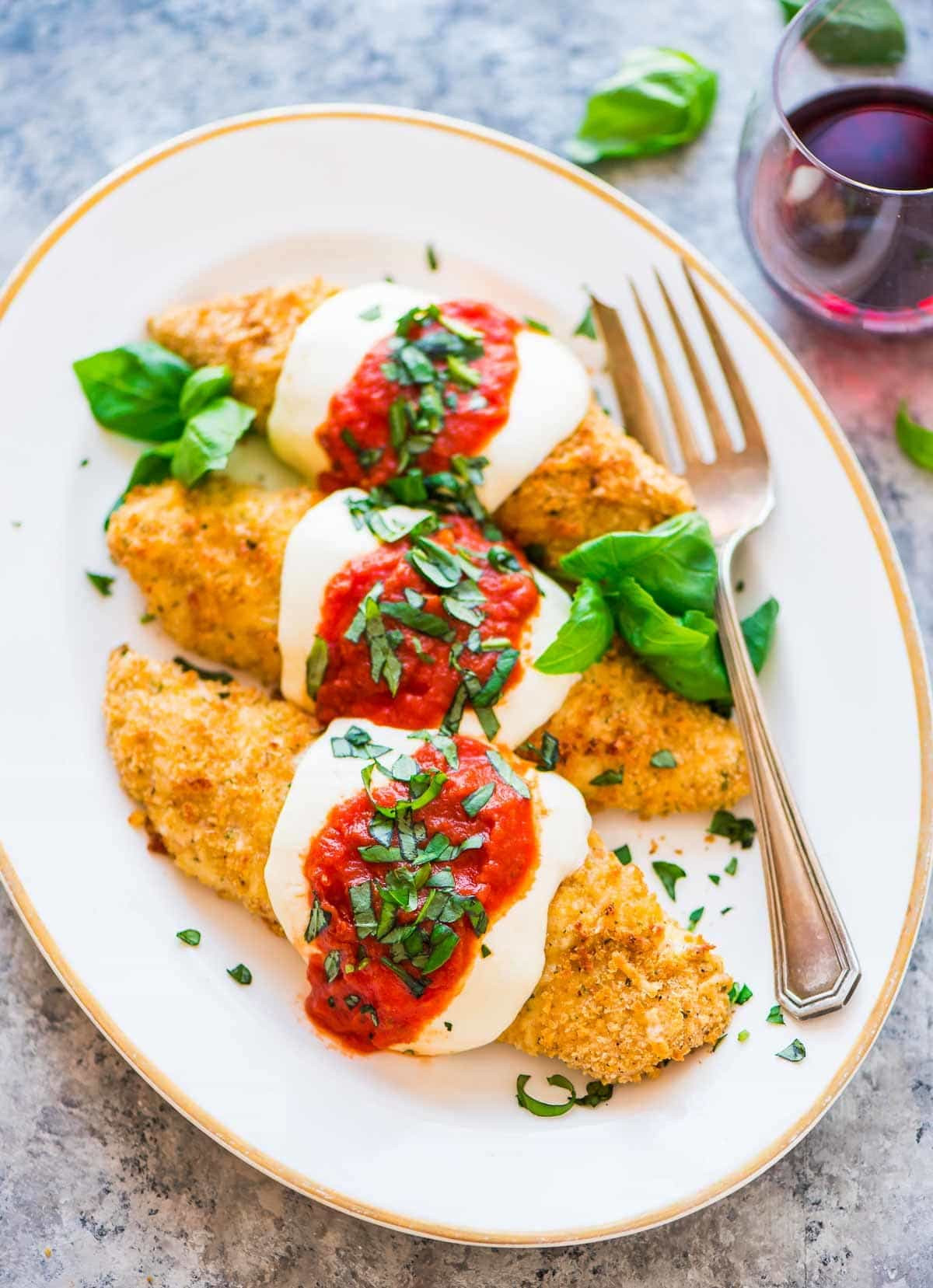 Healthy Italian Chicken Recipes  Baked Chicken Parmesan
