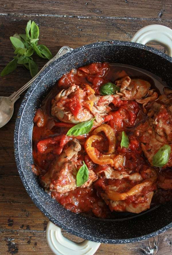 Healthy Italian Chicken Recipes  Italian Chicken and Tomato Skillet with Roasted Peppers