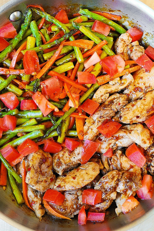 Healthy Italian Chicken Recipes  Balsamic Chicken with Asparagus and Tomatoes Julia s Album