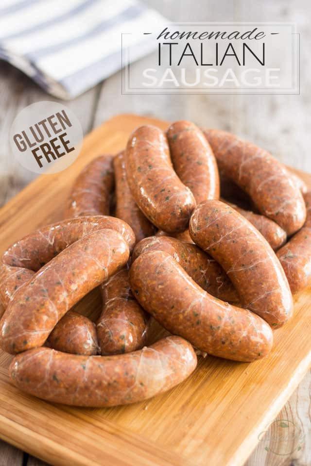 Healthy Italian Sausage Recipes  Gluten Free Homemade Italian Sausage
