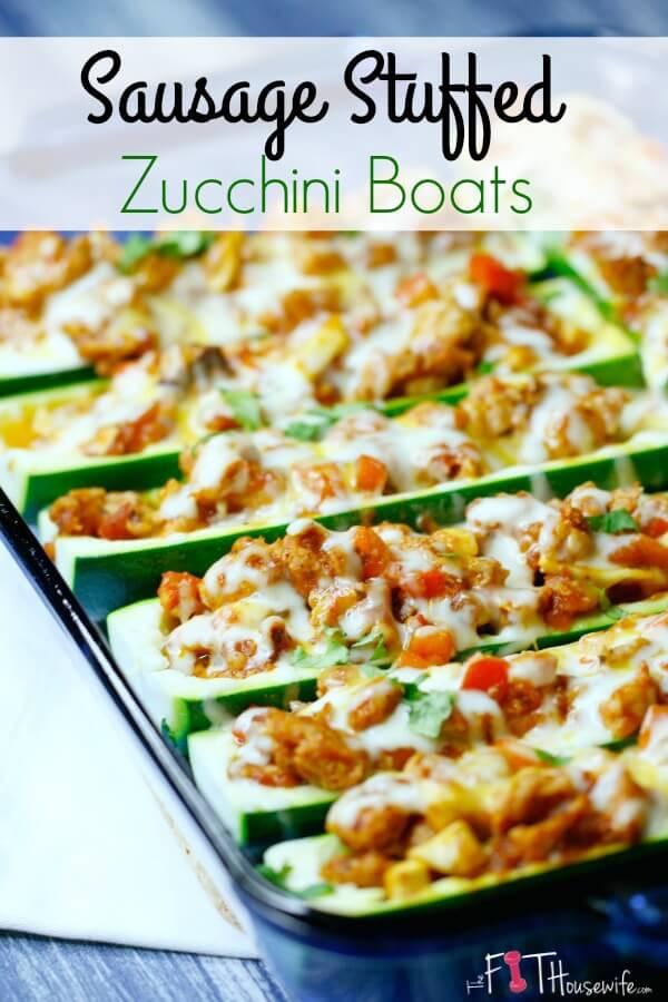 Healthy Italian Sausage Recipes  Sausage Stuffed Zucchini Boats Recipes — Dishmaps
