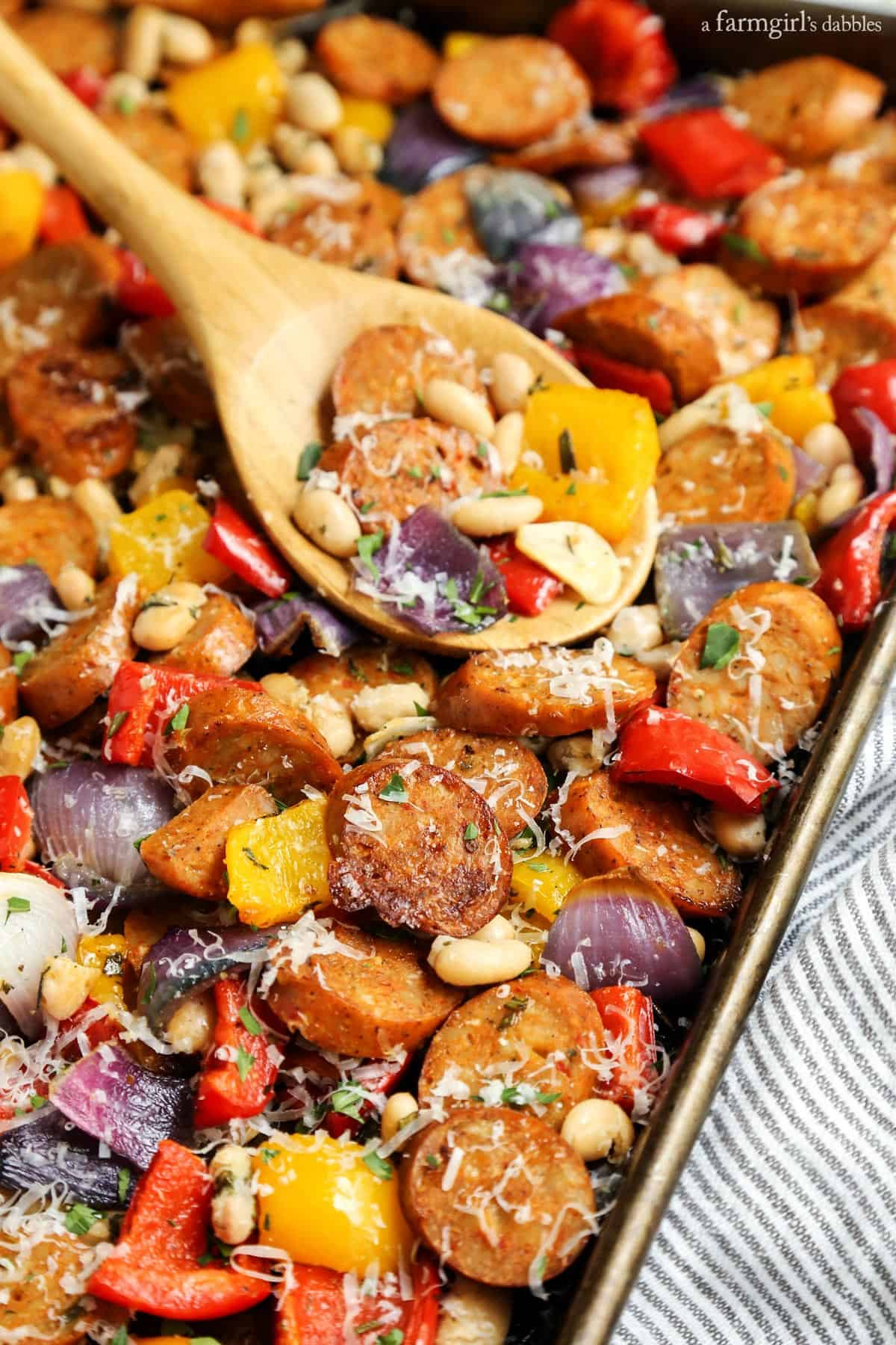 Healthy Italian Sausage Recipes  Sheet Pan Italian Chicken Sausage with White Beans and