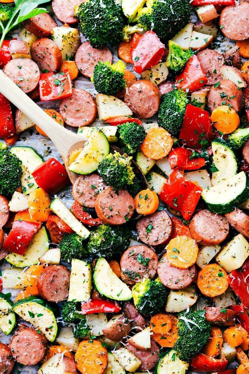 Healthy Italian Sausage Recipes  e Pan Healthy Italian Sausage & Veggies