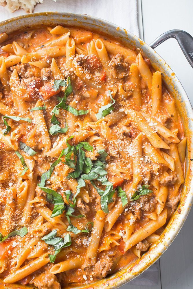 Healthy Italian Sausage Recipes  e Pot Creamy Sausage Pasta Recipe
