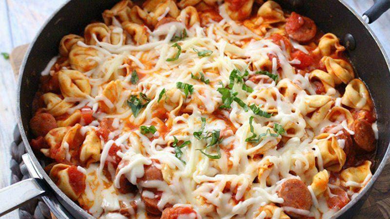 Healthy Italian Sausage Recipes  30 Minute e Pot Tortellini and Sausage BettyCrocker