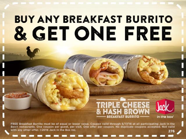 Healthy Jack In The Box Breakfast  BOGO Jack in the Box Breakfast Burrito
