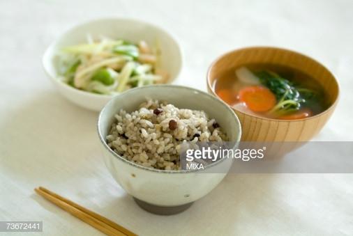 Healthy Japanese Breakfast  Healthy Japanese Breakfast Stock