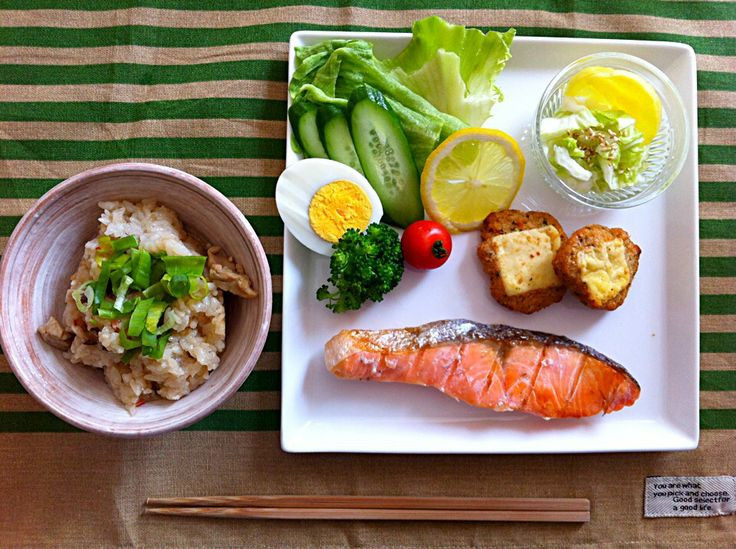 Healthy Japanese Breakfast  Typical Japanese healthy breakfast